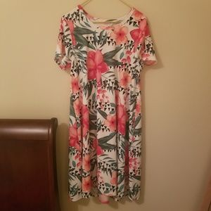 LulaRoe Large Women's Dress Pockets Tropical Large